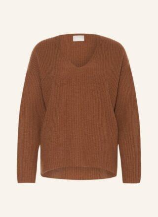 Mrs & HUGS Cashmere-Pullover Damen, Braun