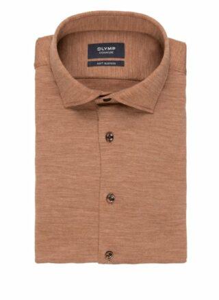 OLYMP SIGNATURE Soft Business Jerseyhemd Herren, Braun