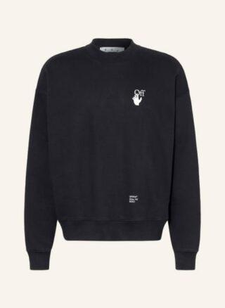 Off-White Oversized-Sweatshirt Herren, Schwarz