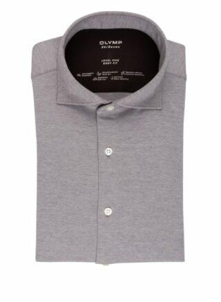 Olymp Level Five 24/7 Jerseyhemd Herren, Grau