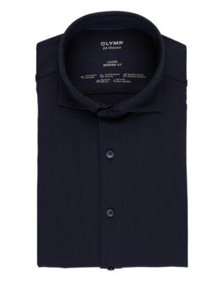 Olymp Luxor 24/7 Jerseyhemd Herren, Blau