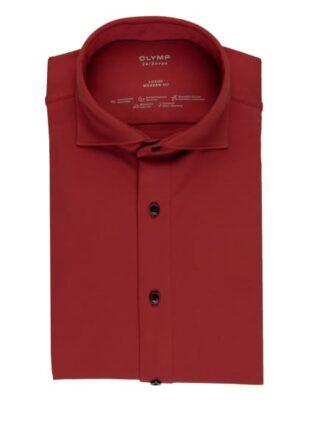 Olymp Luxor 24/7 Jerseyhemd Herren, Rot