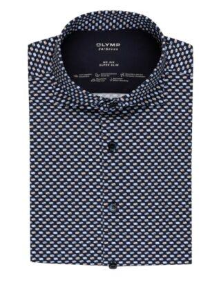 Olymp No. Six 24/7 Jerseyhemd Herren, Blau