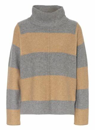 Oui Cashmere-Pullover Damen, Grau