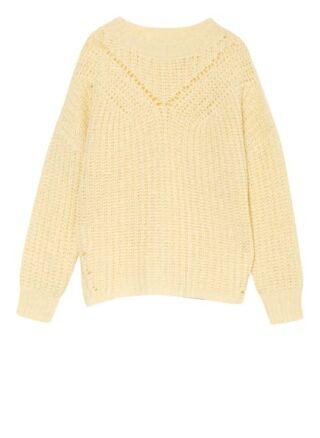 PESERICO Oversized-Pullover Damen, Gelb