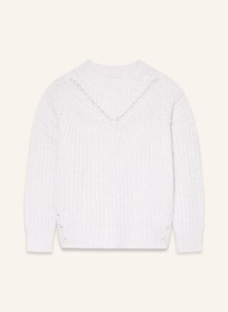PESERICO Oversized-Pullover Damen, Weiß