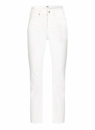 Paige Cindy Straight Leg Jeans Damen, Weiß