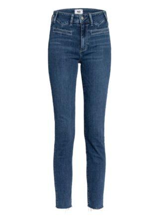 Paige Hoxton Straight Leg Jeans Damen, Blau