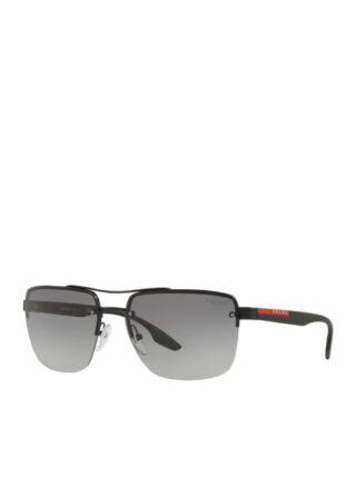 Prada Linea Rossa Ps 60us Sonnenbrille Herren, Schwarz
