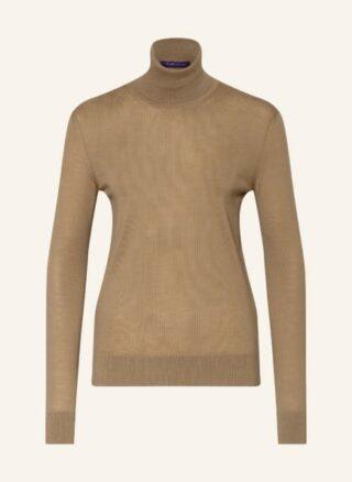 RALPH LAUREN Collection Cashmere-Rollkragenpullover Damen, Braun