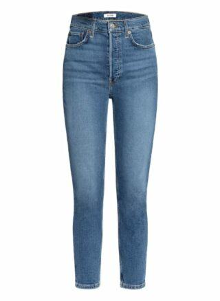 RE/DONE 7/8 Skinny Jeans Damen, Blau