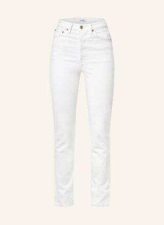 RE/DONE 80s Slim Straight Straight Leg Jeans Damen, Weiß