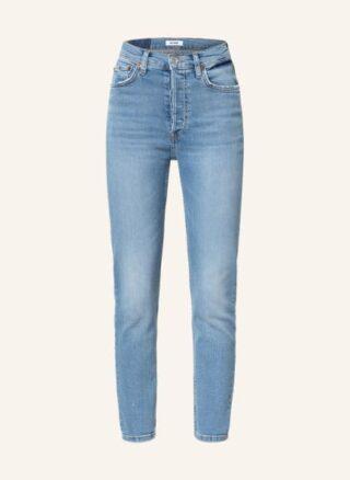 RE/DONE 90s High Rise Ankle Crop 7/8 Skinny Jeans Damen, Blau