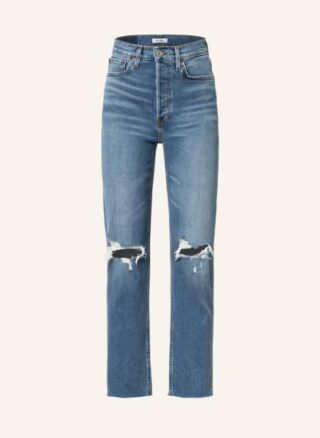 RE/DONE Jeans Straight Leg Jeans Damen, Blau