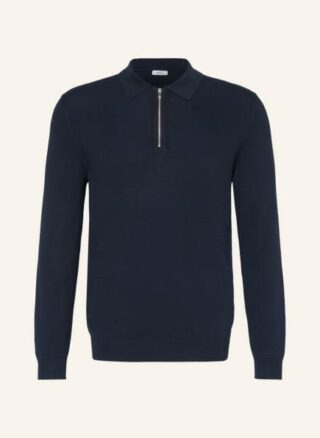 REISS Adams Strick-Poloshirt Herren, Blau