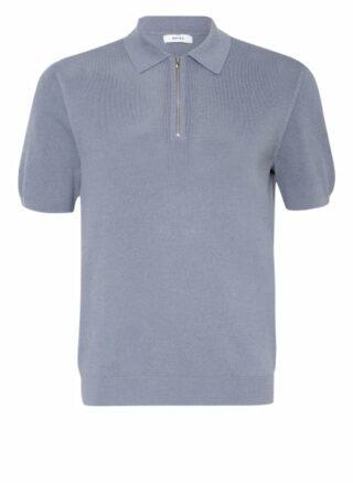 REISS Albany Strick-Poloshirt Herren, Blau