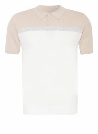 REISS Cairns Strick-Poloshirt Herren, Beige