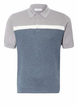 REISS Cairns Strick-Poloshirt Herren, Blau