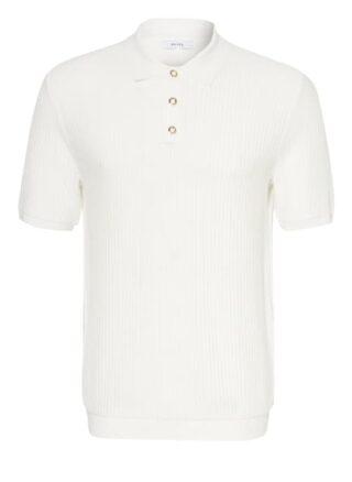 REISS Clapham Strick-Poloshirt Herren, Weiß