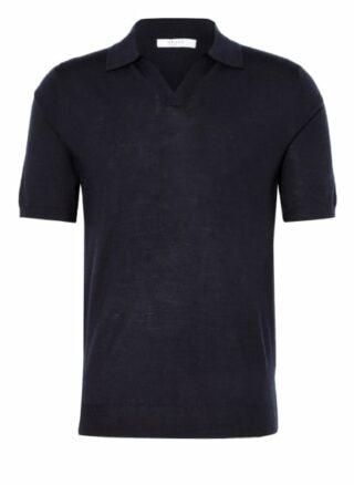 REISS Duchie Strick-Poloshirt Herren, Blau