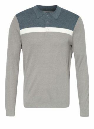REISS Eastlong Strick-Poloshirt Herren, Beige