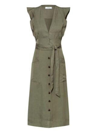 REISS Emma Ausgestelltes Kleid Damen, Grün