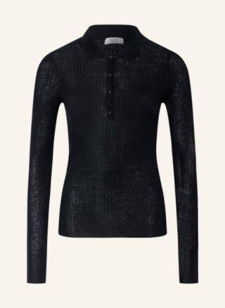 REISS Kim Strick-Poloshirt Damen, Blau