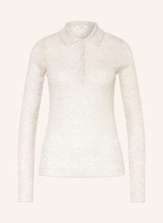 REISS Kim Strick-Poloshirt Damen, Grau