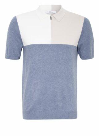REISS Port Strick-Poloshirt Herren, Blau