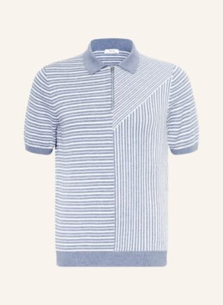 REISS Wriggle Strick-Poloshirt Herren, Blau