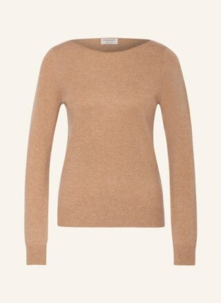 REPEAT Cashmere-Pullover Damen, Braun