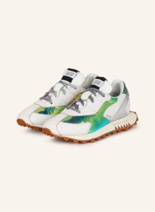 RUN OF Sneaky Mirror Plateau-Sneaker Damen, Silber