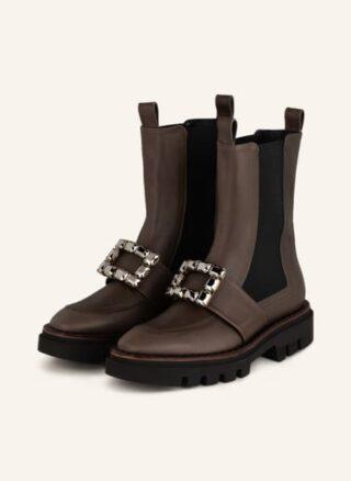 Ras Boots Bailey Biker Boots Damen, Braun