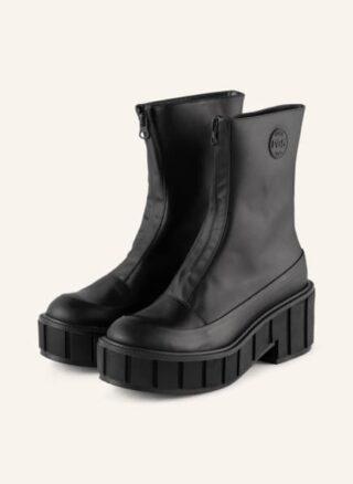 Ras Kubrick Biker Boots Damen, Schwarz