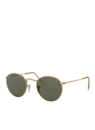 Ray-Ban rb3447 Round Sonnenbrille Damen, Gold