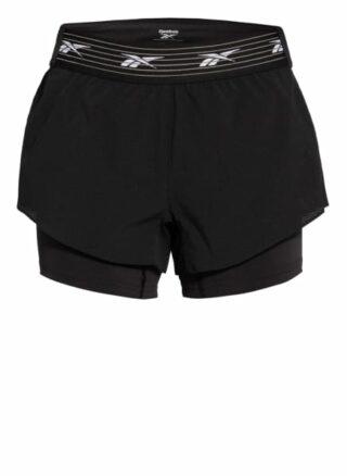 Reebok Epic Shorts Damen, Schwarz