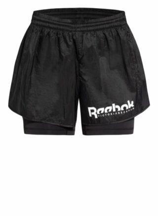 Reebok Shorts Damen, Schwarz