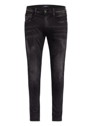 Replay Bronny Hyperflex Re-Used Slim Fit Jeans Herren, Schwarz
