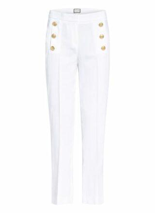 SEDUCTIVE Sailor Kick Cigarettenhose Damen, Weiß