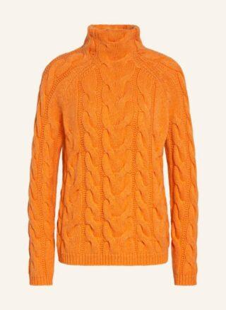 SEM PER LEI Cashmere-Pullover Damen, Orange
