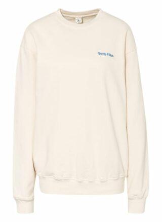 SPORTY & RICH Sweatshirt Damen, Weiß