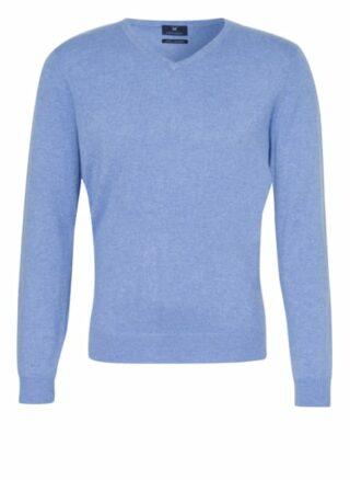 STROKESMAN'S Cashmere-Pullover Herren, Blau