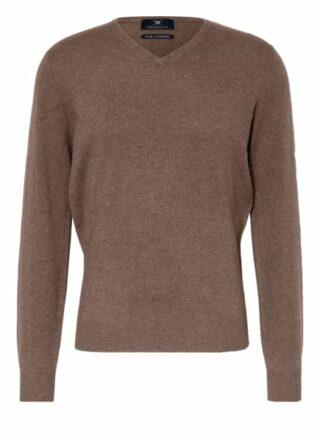 STROKESMAN'S Cashmere-Pullover Herren, Braun