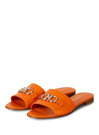 Salvatore Ferragamo Rhodes Pantoletten Damen, Orange