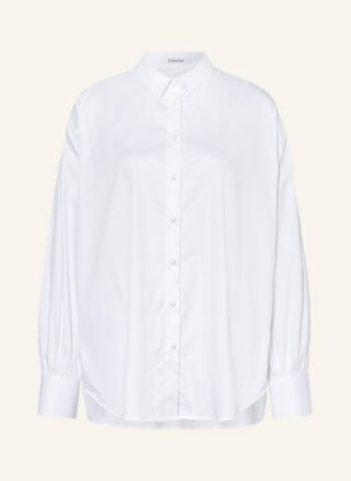 Soluzione Oversized-Hemdbluse Damen, Weiß
