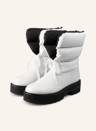 Stuart Weitzman Tyler Ultralift Plateau-Boots Damen, Weiß