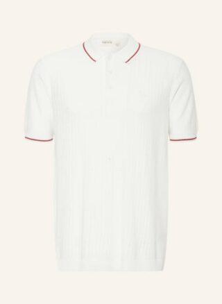 Ted Baker Somerse Strick-Poloshirt Herren, Weiß
