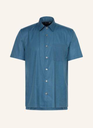 Ted Baker Wolks Boxy Kurzarm-Hemd Herren, Blau