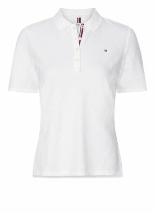 Tommy Hilfiger Piqué-Poloshirt Damen, Weiß