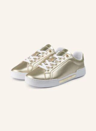 Tommy Hilfiger Plateau-Sneaker Damen, Gold